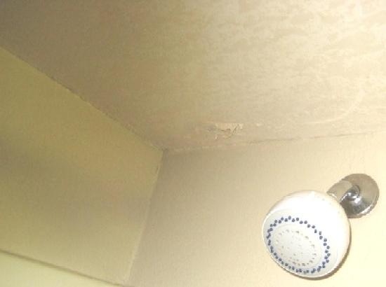 Comfort Inn Asheville Airport: Falling sheetrock - closer view