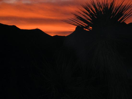 Terlingua, TX : our first sunset on the ranch