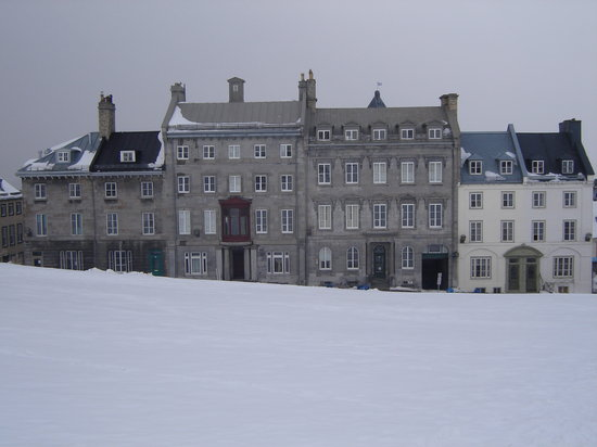 Quebec City, Canada: Edge of Old Quebec. Lots of snow in March