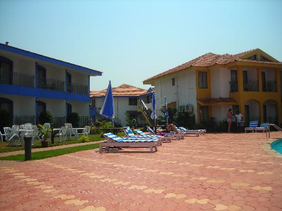 Colva, Inde : Pool patio