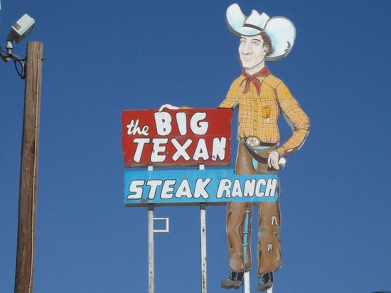 Amarillo, TX: big texan sign