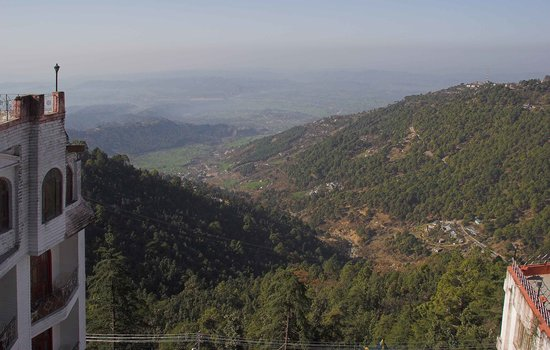 McLeod Ganj, India: View of Kangra Valley from terrace