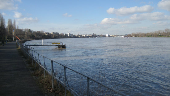 A view along the Rhine River in Bonn.