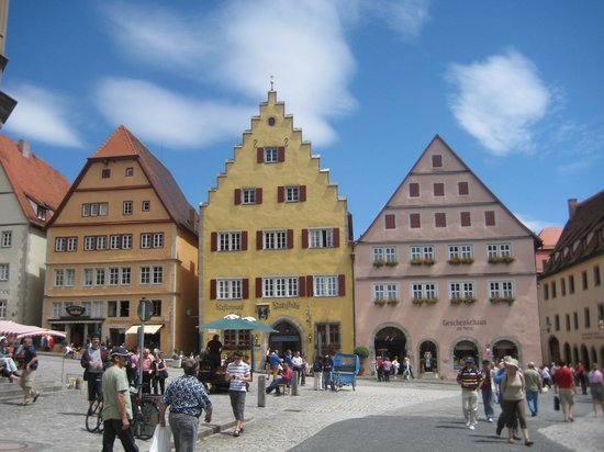 Rothenburg ob der Tauber, Germany: Mian centre