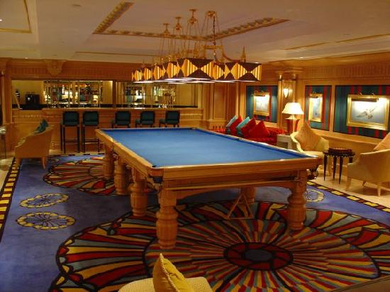 Snooker room on floor with gym librbary etc picture of for Burj al arab hotel room rates