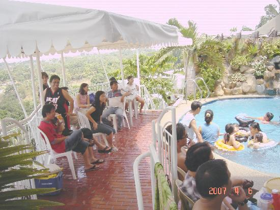 Antipolo City, Philippines: having fun watching the kids in the pool