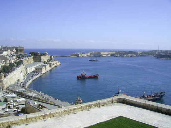 Valletta, Malta: view from the fort above velletta