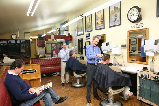 Enniskillen, UK : Headhunters Barbers Shop & Railway Museum