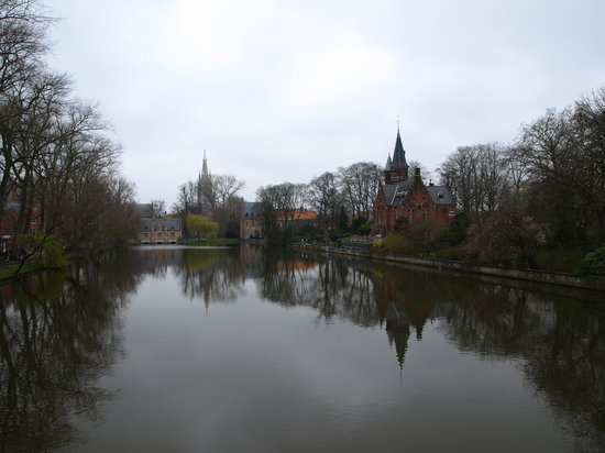 Bruges, Belgique : lake of love