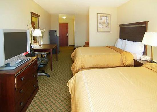 Comfort Suites: Double bed room with flatscreen TV