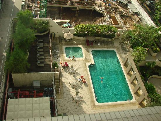 View Of Swimming Pool And New Wing Being Built Picture Of Carlton Hotel Singapore Singapore