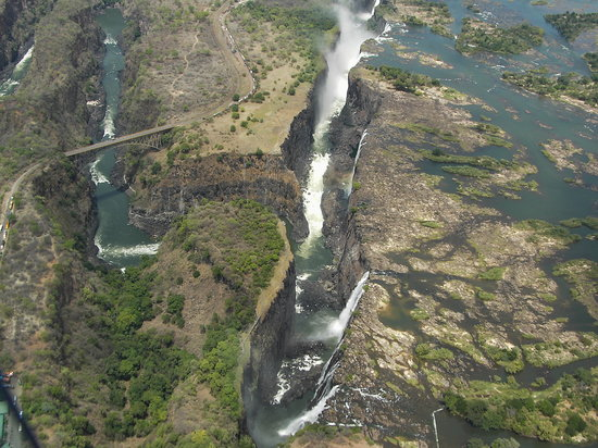 Victoria Falls, Zimbabwe: The Gorge, aerial