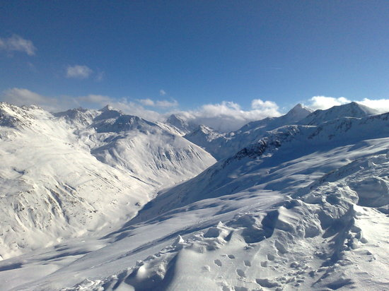 Livigno, : On top of the hill