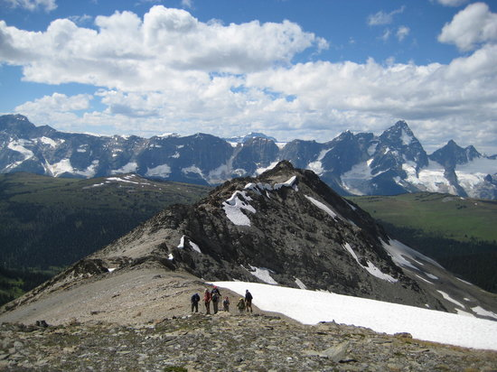 Golden, Canada : Ridge walking at Purcell 