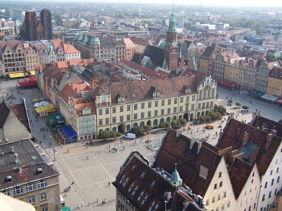 Breslau, Polen: Wroclaw from Bird&#39;s Eye View