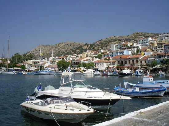 Samos, Greece: Harbour at midday