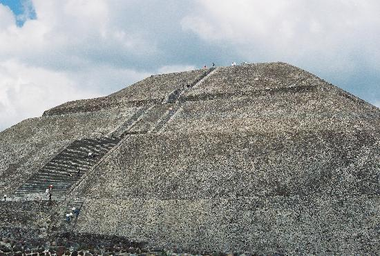 pyramids in mexico. I climbed the Pyramid of the