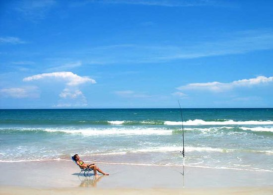 Ormond Beach, : Surf Fishing from Ormond Beach