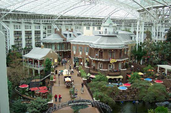 Water Fall Near Restaurant In Gaylord Opryland Hotel