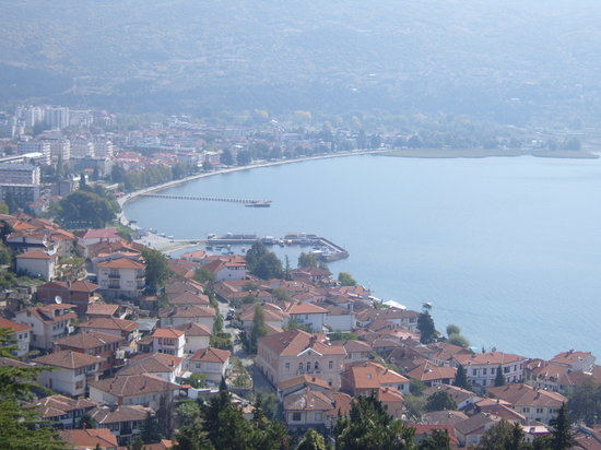 Ohrid, Republik Mazedonien: lake wiev
