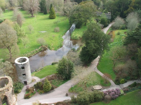 looking from blarney castle