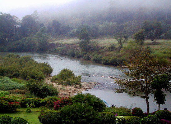 Mae Hong Son, Thailand: Morning mist on the river