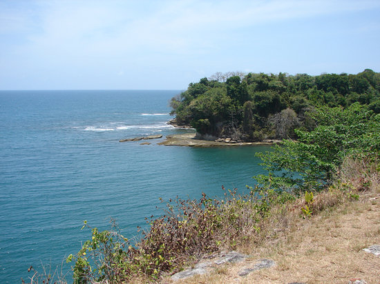 Colon, : View of the Atlantic Ocean