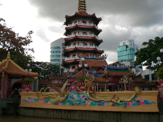 Sibu, Malaysia: The Chinese Pagoda near the river front