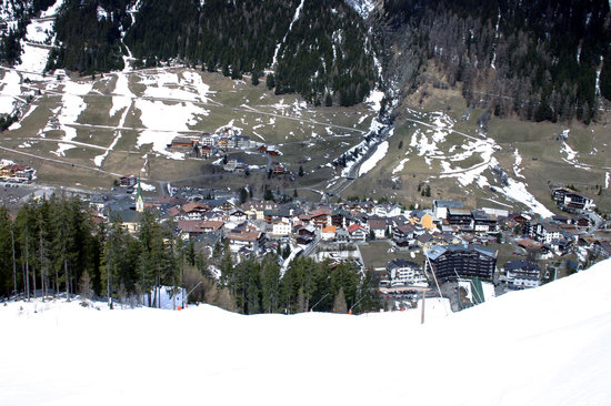 Ischgl, Austria: Skiing back down in April