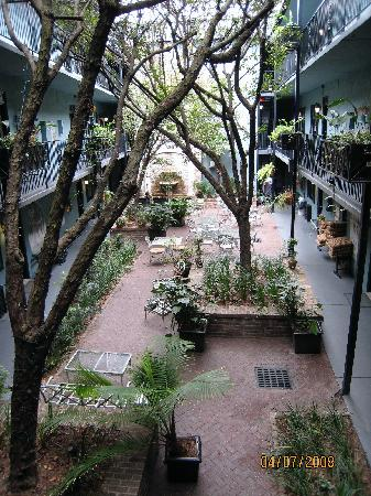 Indigo Inn: view of the courtyard from 2nd floor