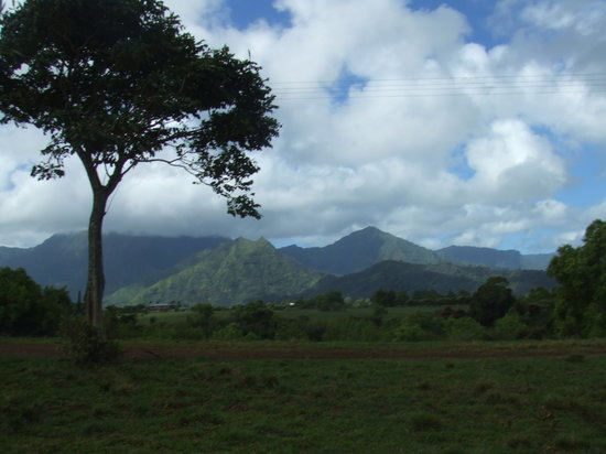 Hanalei, Hawaï : Riding along the Countryside