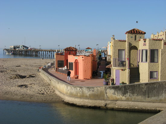 Capitola, Kalifornien: View of Venetian & wharf