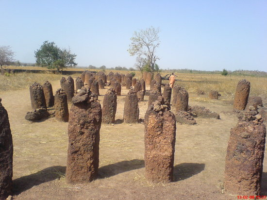 Gambia: Wassu Stone Circles -well worth a visit, if only to pick Moses' brains (the eccentric curator)