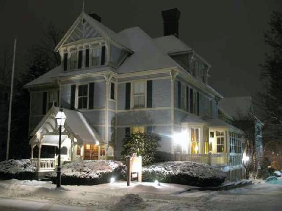 Sise Inn on a snow winter's night