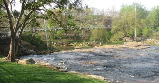 Greenville, Carolina Selatan: Falls Park On The Reedy