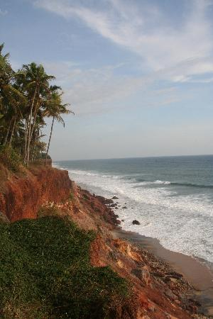 Varkala SeaShore Beach Resort: the beach below sea shore