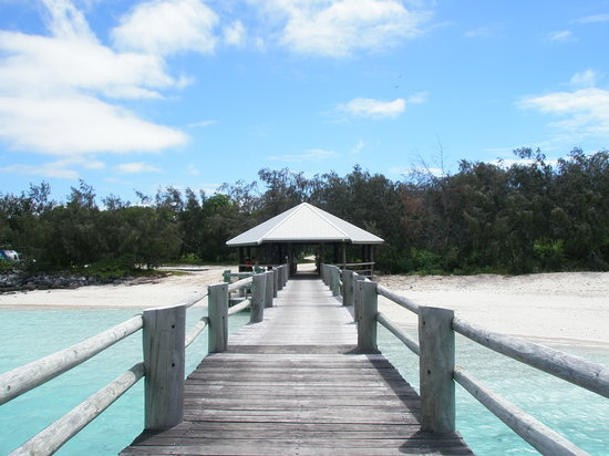 Heron Island, Australie : Entrance to the Island - what you see when arrive