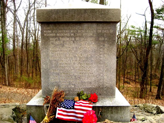Gettysburg, PA: Monument to 20th Maine