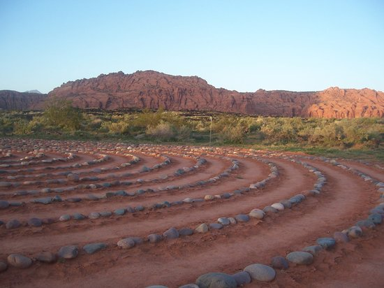 Ivins, UT: spiral walk on property