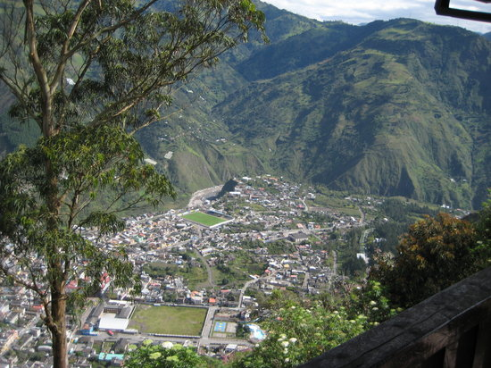 Banos, Ecuador: View from the room's balconey