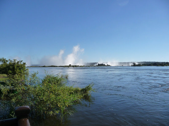 Livingstone, Zambia: Falls view from sundowner deck