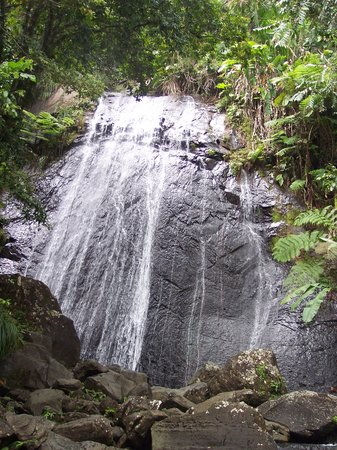 Picture of waterfall in El Yunque