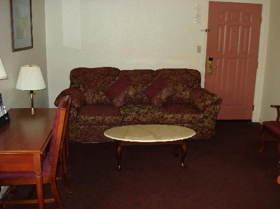 BEST WESTERN Salinas Monterey Hotel: livingroom sofa