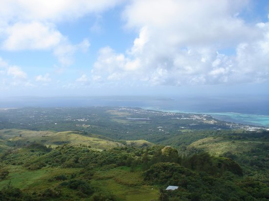 Saipan, Kepulauan Mariana: View from Tapachao mountain