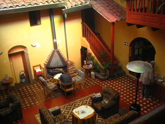 The main breakfast/lobby area at the Hostal San Blas