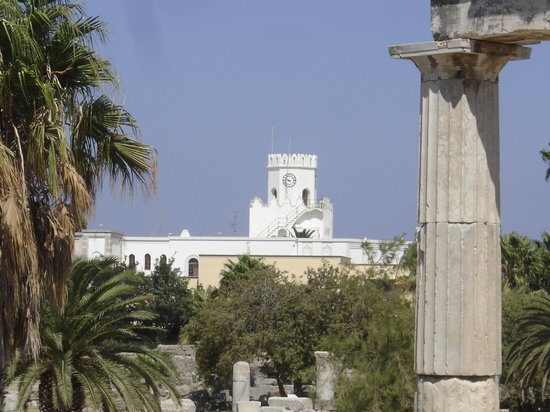 , : from the ruins of the old town in Kos