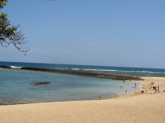 Kahuku, HI: beach in front of the hotel