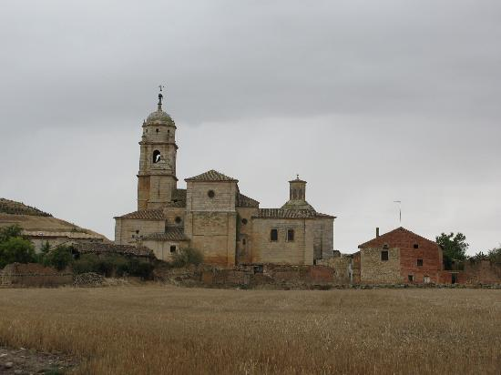 Castrojeriz and Saint Peter's College, all very drenched