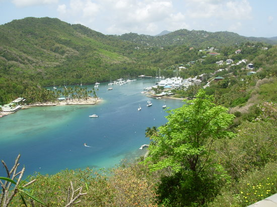 Baie de Marigot, Sainte-Lucie : The scenic bay 