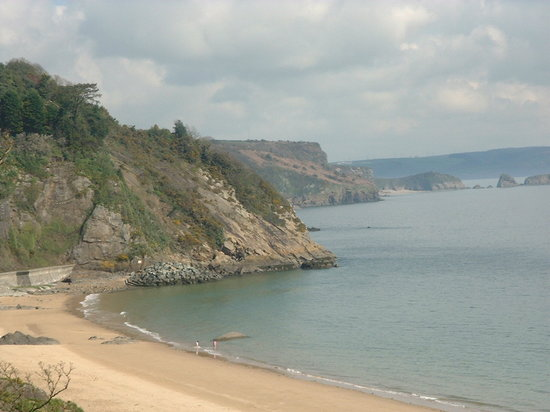 Tenby, UK: Looking past North Beach